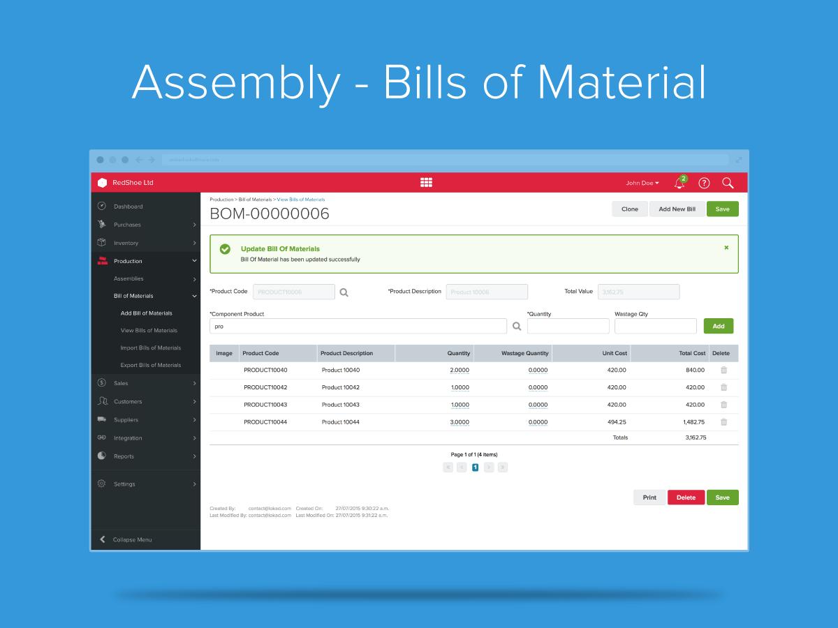 Assembly Bill of Materials