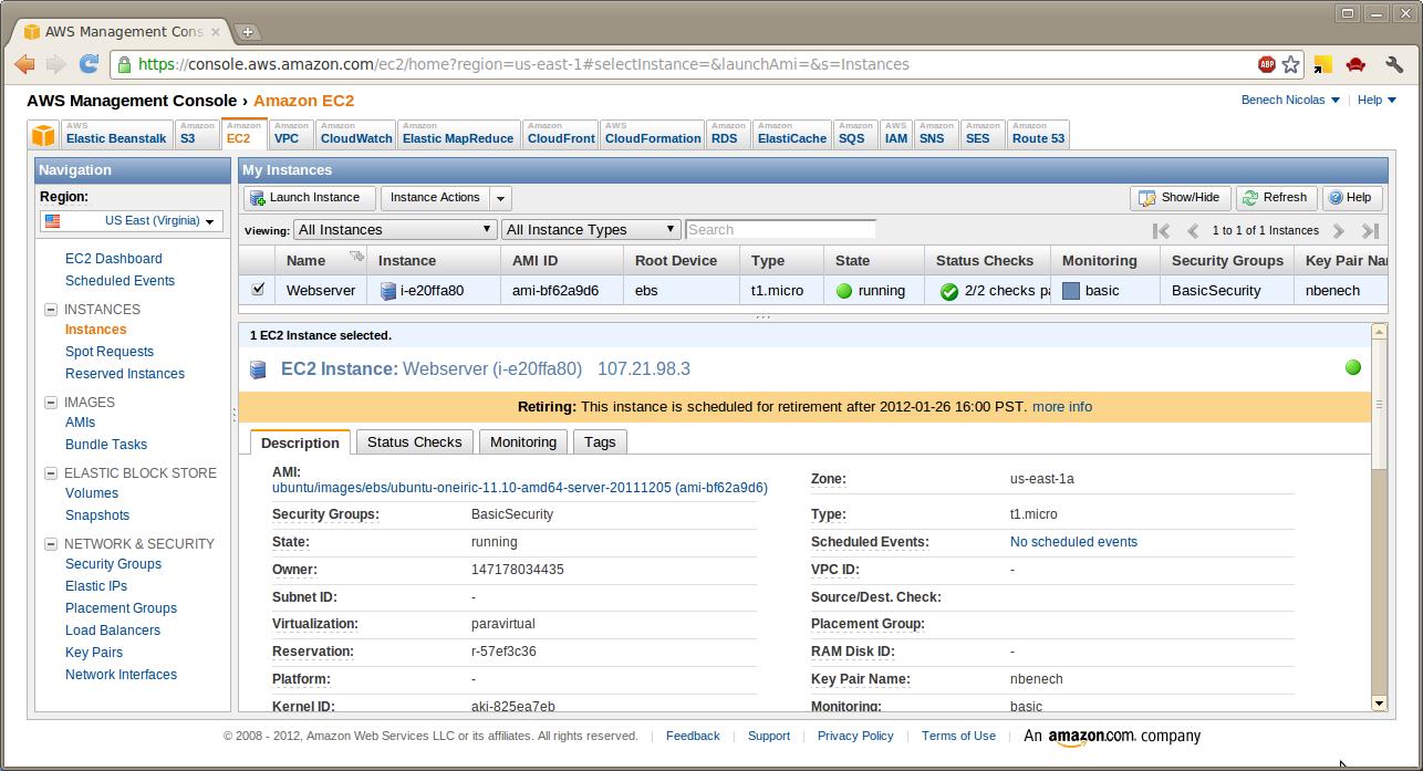 Amazon EC2 Instances description