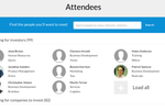 EventsCase screenshot: Attendees can be tracked for each event