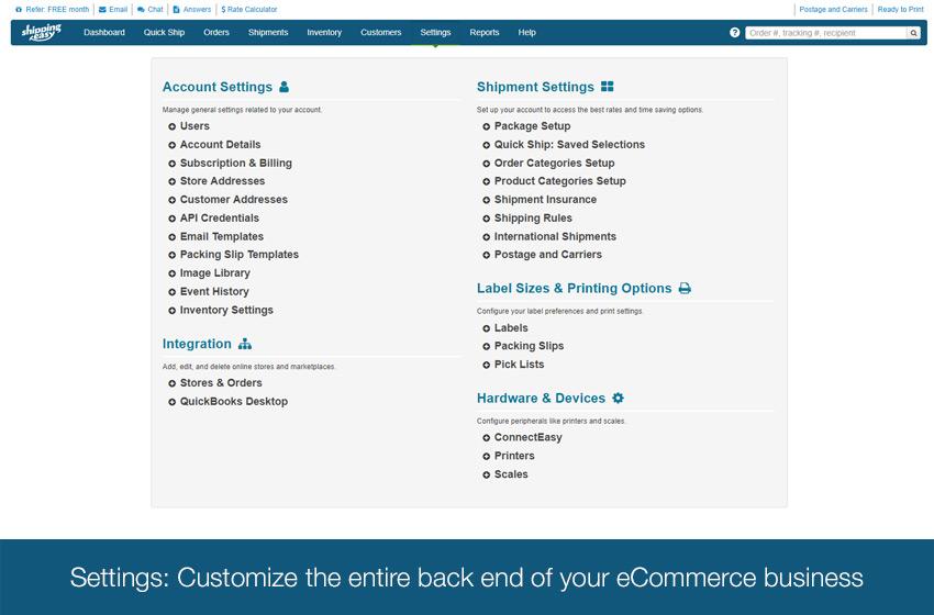 ShippingEasy Software - ShippingEasy: Easy interface - set settings once, apply many