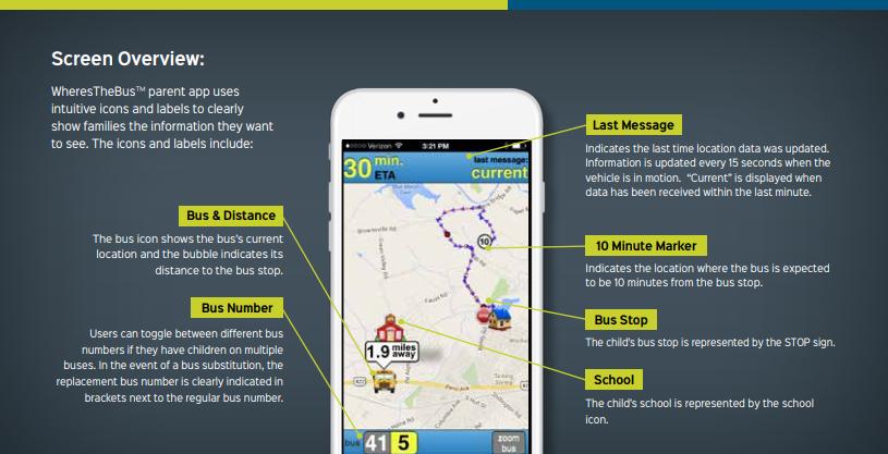 K-12 Transportation Suite mobile parent application