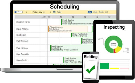 CleanGuru scheduling and inspecting