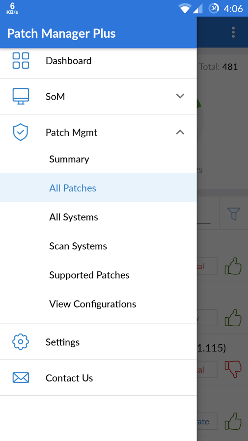 Patch Manager Plus allows users to scan endpoints to identify missing patches and automate patch deployment