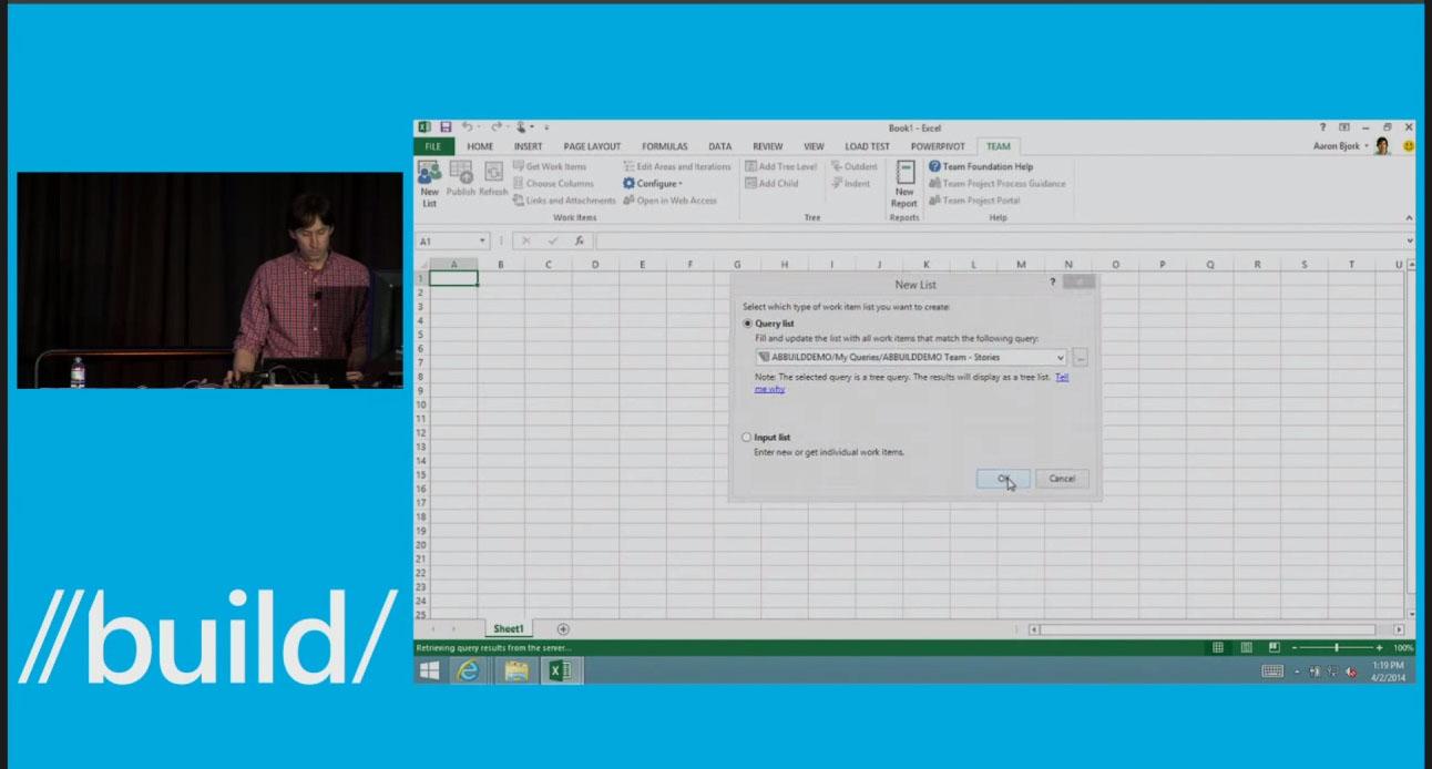 Microsoft Visual Studio Online Excel