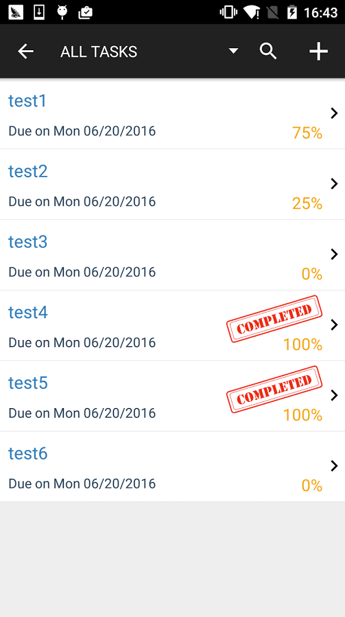 Keep track of a variety of tasks, and their progress / status