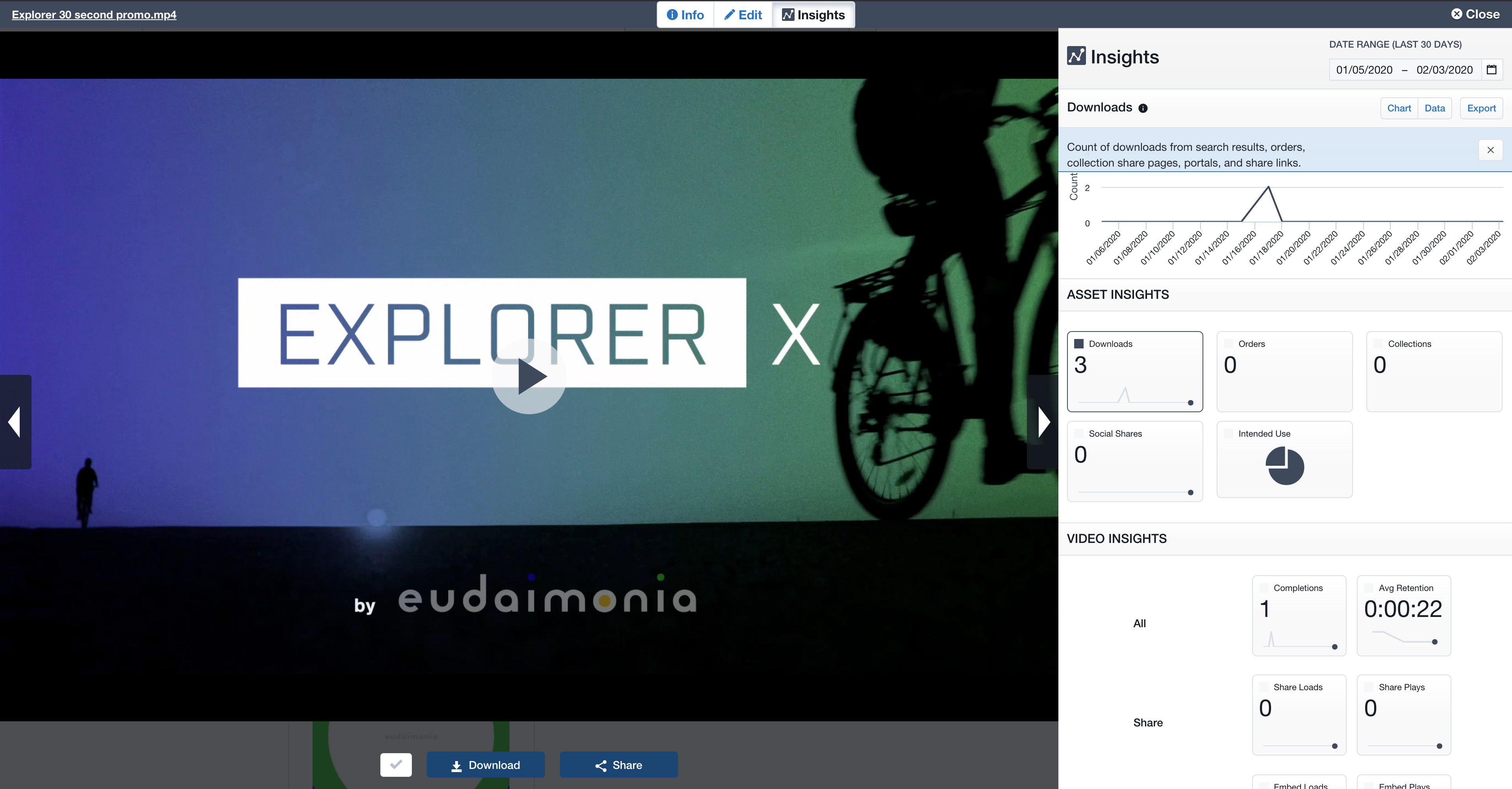 Preview, embed, and track images, documents, and videos.