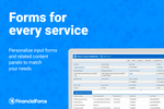 FinancialForce Accounting screenshot: Personalized input forms and related content panels