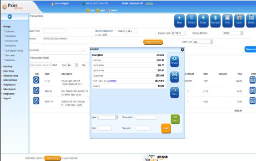 Pxier Catering Software - Enter details