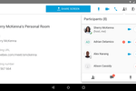 Cisco Webex screenshot: Multiple participants can be added to a meeting room