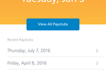 Paycor Screenshot: Paystubs can also be viewed on employees' devices