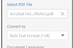 Adobe Acrobat Reader DC screenshot: Acrobat Reader DC export PDF documents