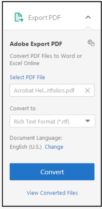 Acrobat Reader DC export PDF documents