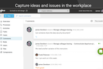 Gluu screenshot: Comments & Labels: Capture Q&A, issues and ideas in the right context. It's all searchable.