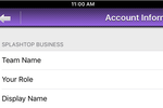 Splashtop Business Access screenshot: Managers can view the account settings and check the access granted team members