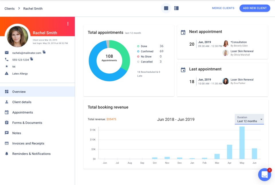 Yocale client profile