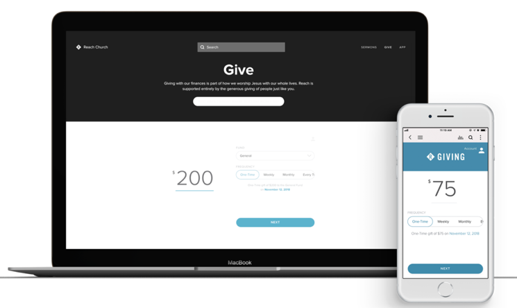 Allow churchgoers to make donations easily online