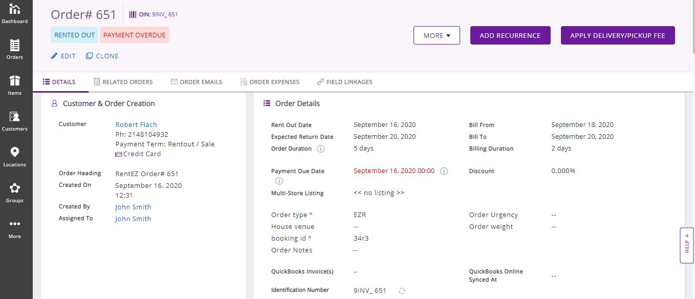 EZRentOut Orders module
