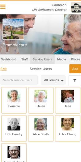 StoriiCare service users