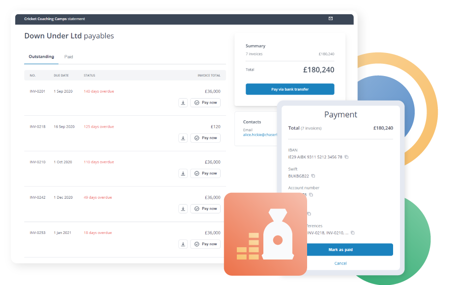 Make it easier for customers to pay you: Give all your customers access to a dedicated Payment Portal, offer multiple payment options to suit your customers' needs in one location, including instant card payments
