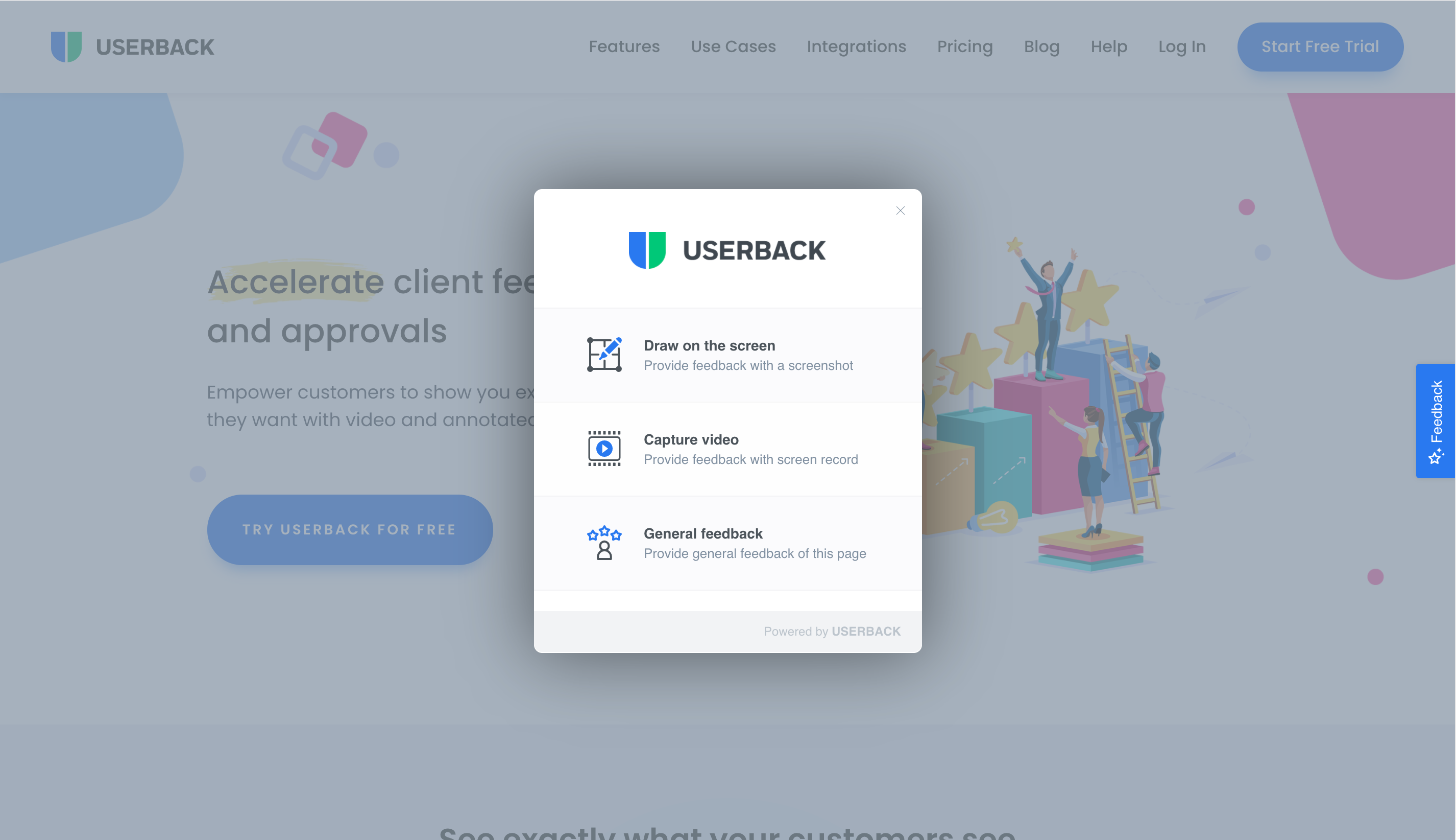 Easily collect feedback from any website or application with video and annotated screenshots.