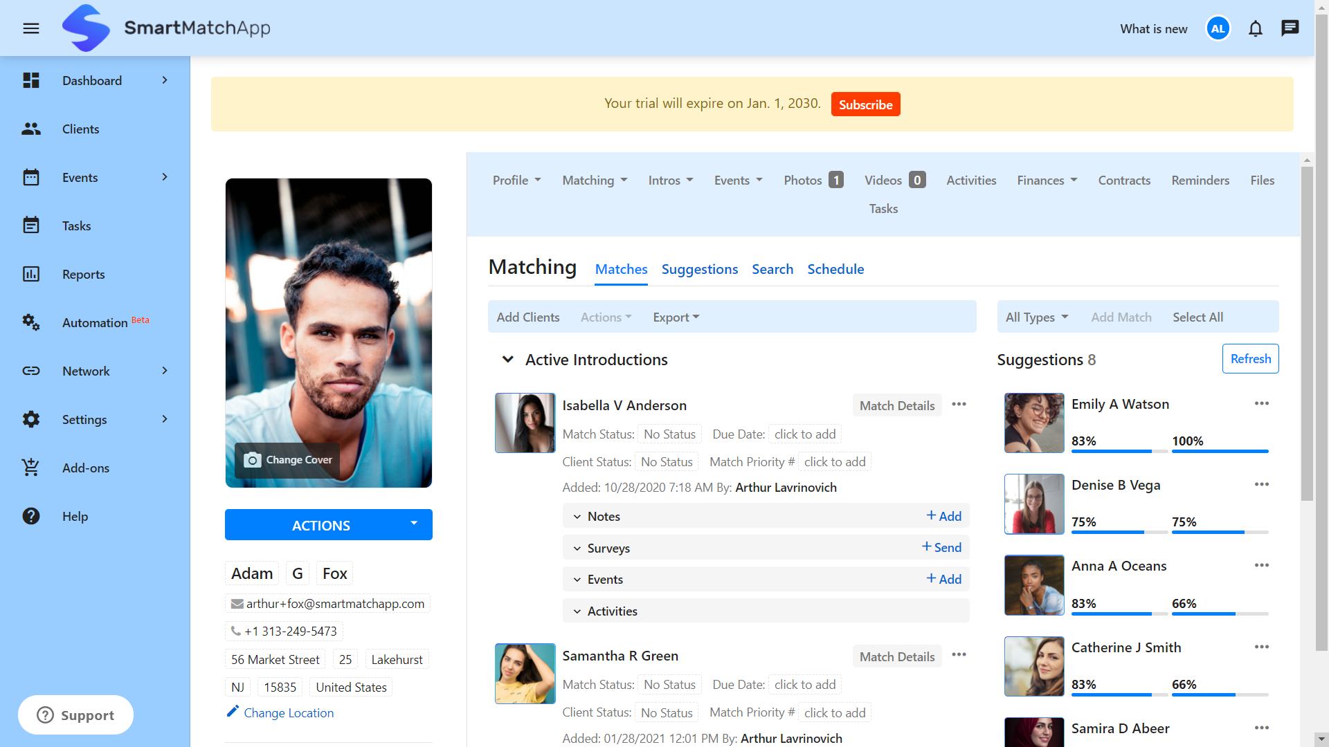 SmartMatchApp Matchmaker Reviews Her Client Smart Suggestions