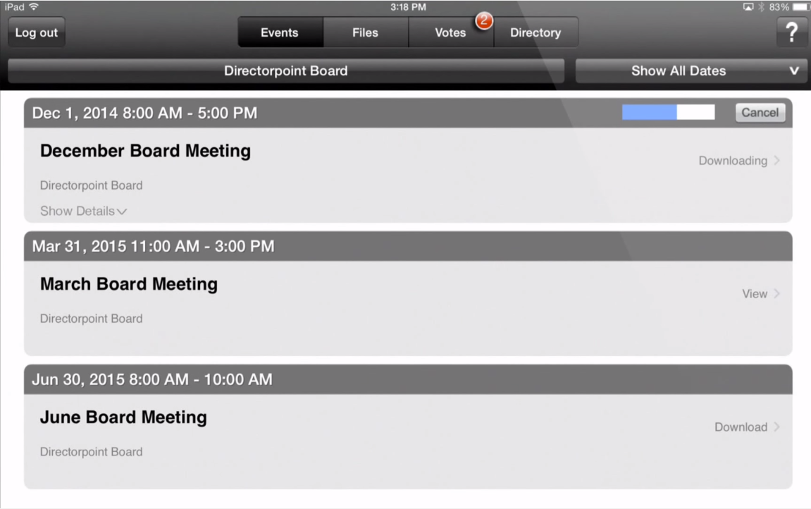 Keep up with all board meeting events