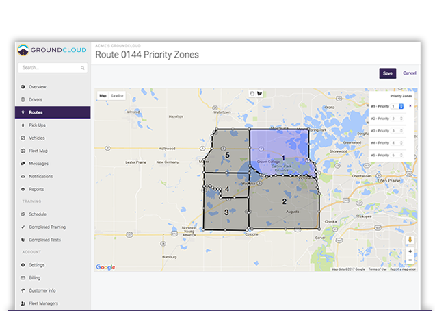 GroundCloud priority zones