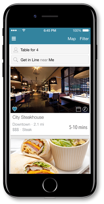 Guests can also join wait lists from the DineTime mobile app