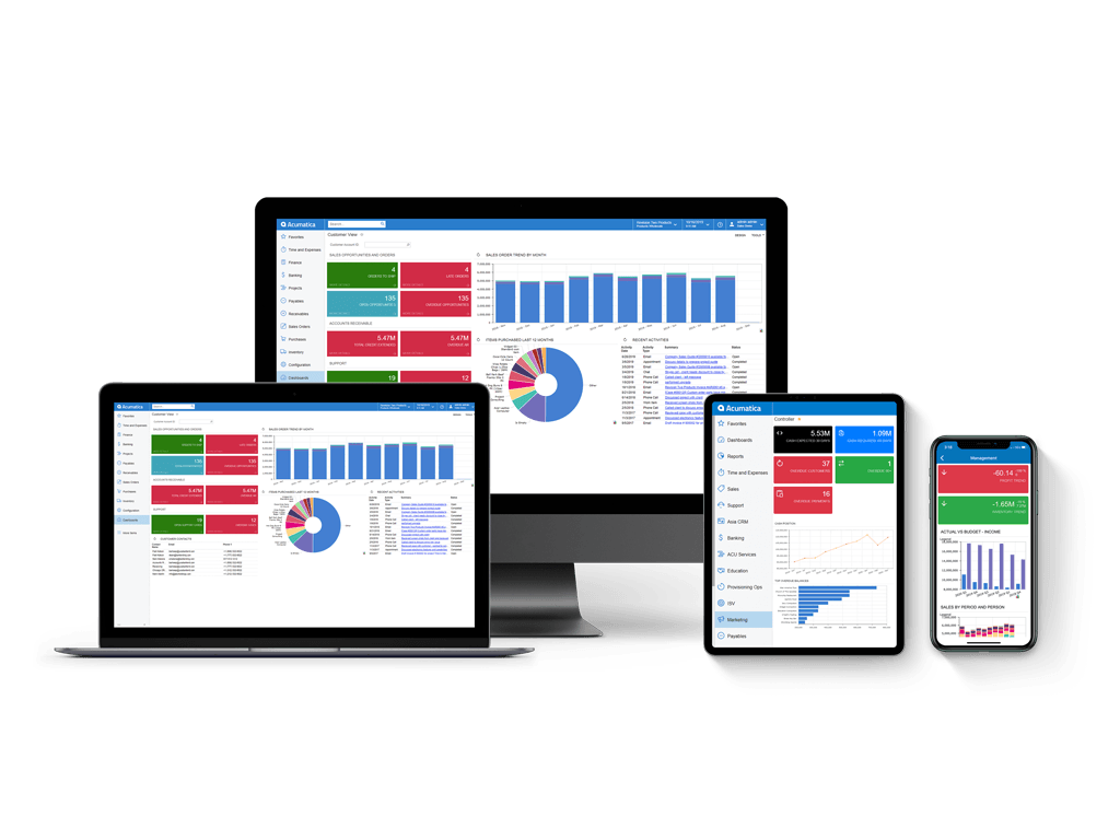 Acumatica Cloud ERP Software - Device Support