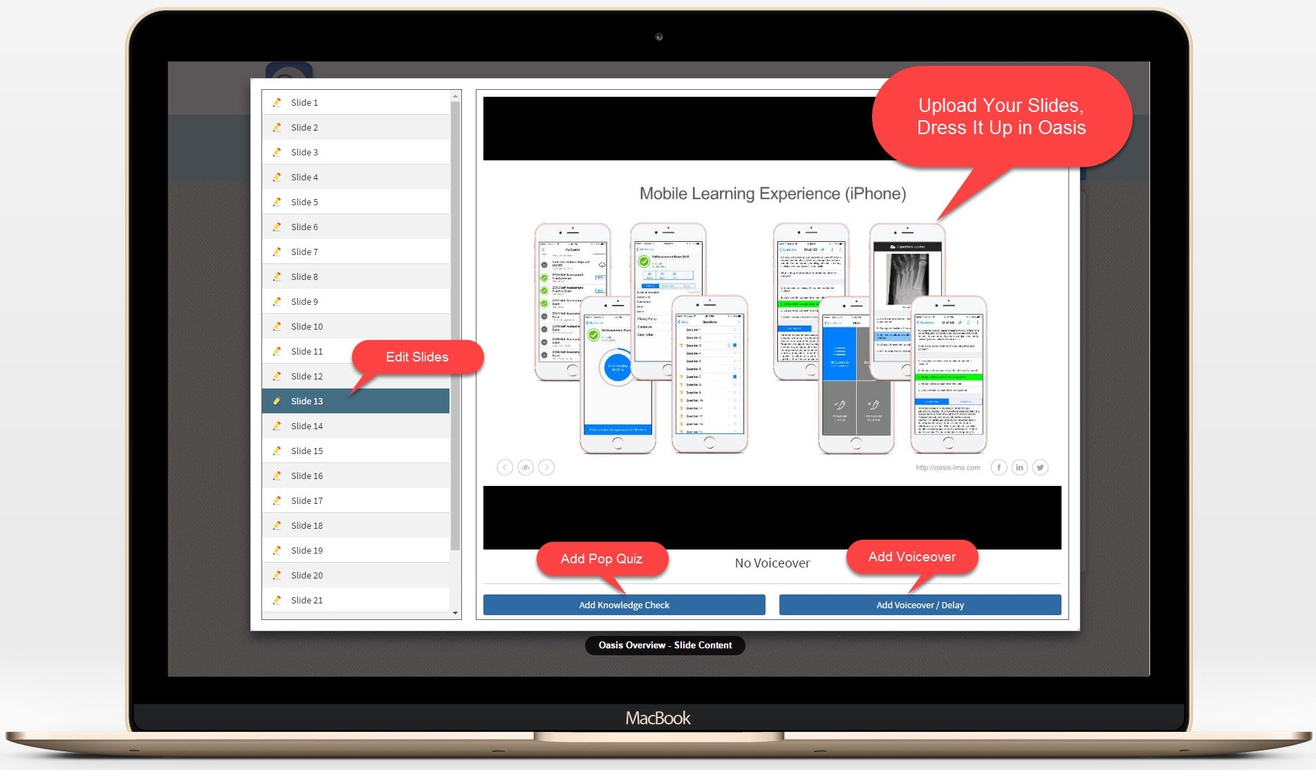 Oasis LMS Software - Authoring Tool