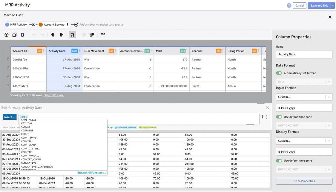 Klipfolio Software - Powerful data prep and modelling