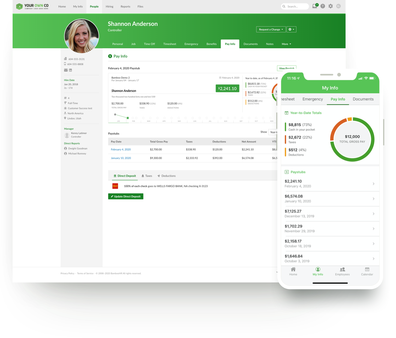 BambooHR Software - BambooHR + TRAXPayroll