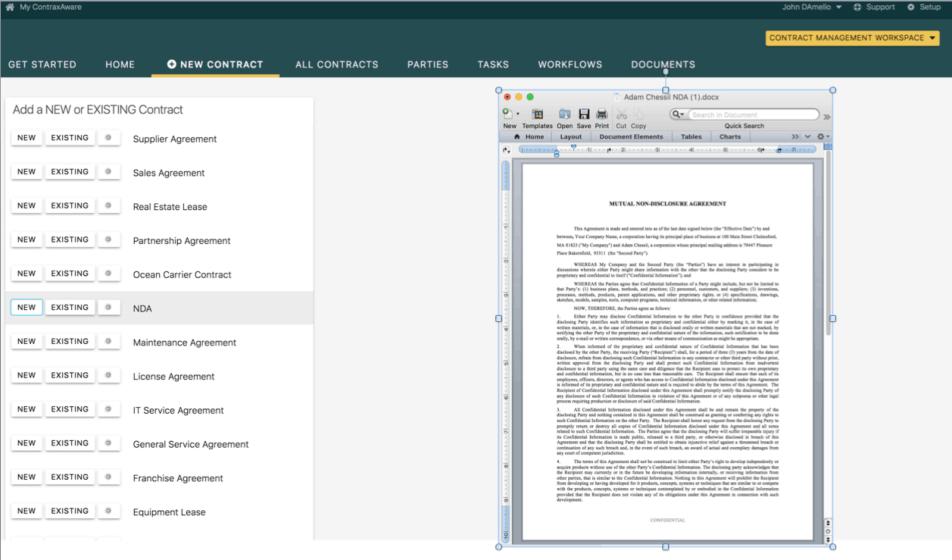 ContraxAware Software - ContraxAware contract authoring
