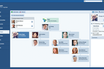 Captura de tela do Pipeliner CRM: org chart