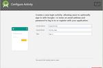 PixelPin screenshot: PixelPin activity configuration screenshot