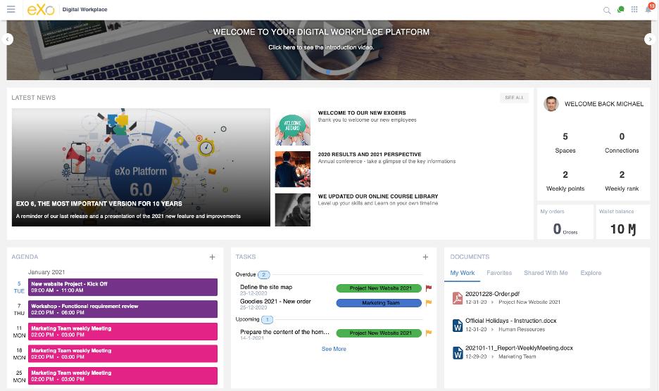 eXo Homepage