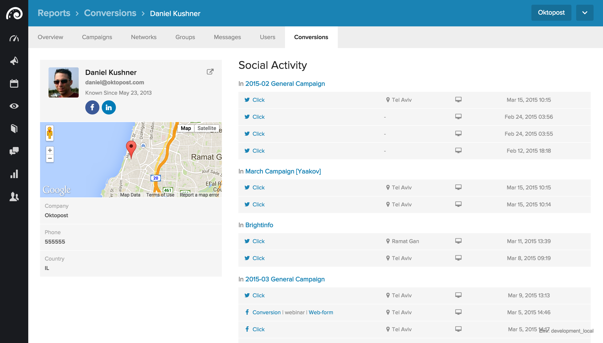 Social Lead Page