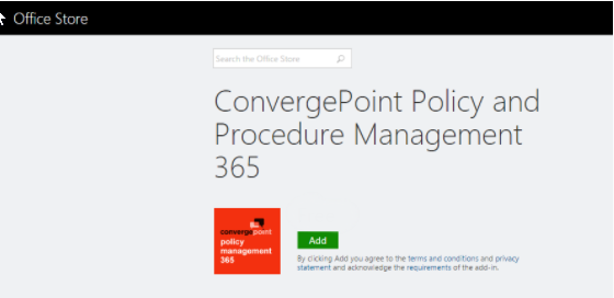 Policy Management Software App On Office 365 SharePoint. Manage the entire lifecycle of a policy or procedure document including drafting, review, approval, publishing to a single repository for employees and employee quiz/attestation. Automated Workflows