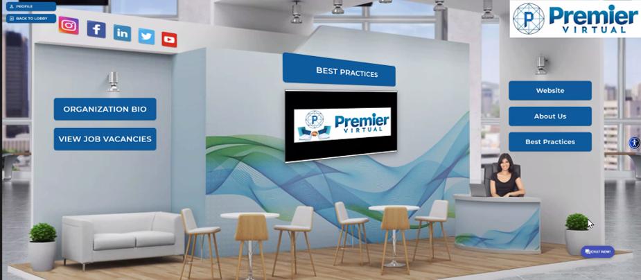 Premier Virtual Custom Virtual Booths