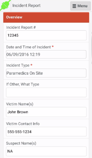 OfficerReports.com incident reports