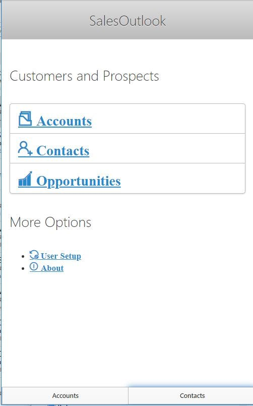 SalesOutlook CRM Software - Download the Outlook CRM mobile app from the Apple App store or Google Play Store.