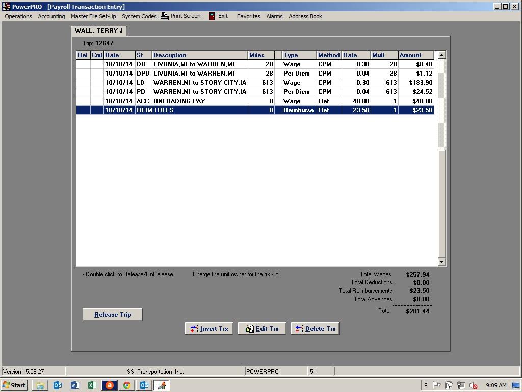 PowerPRO Software - Driver payroll