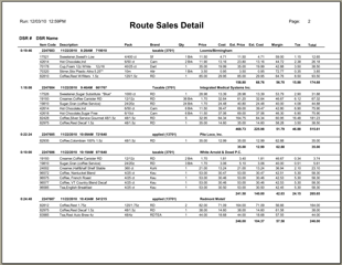 Route sales report