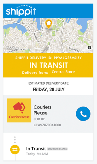 Shippit courier tracking