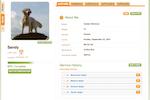 PawLoyalty Pro Software screenshot: A PawLoyalty pet profile