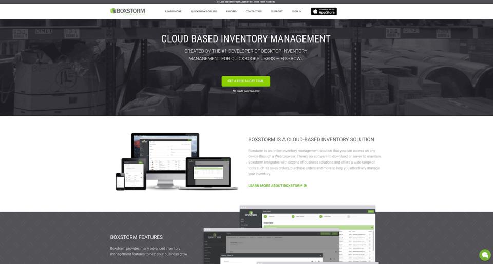 Boxstorm homepage