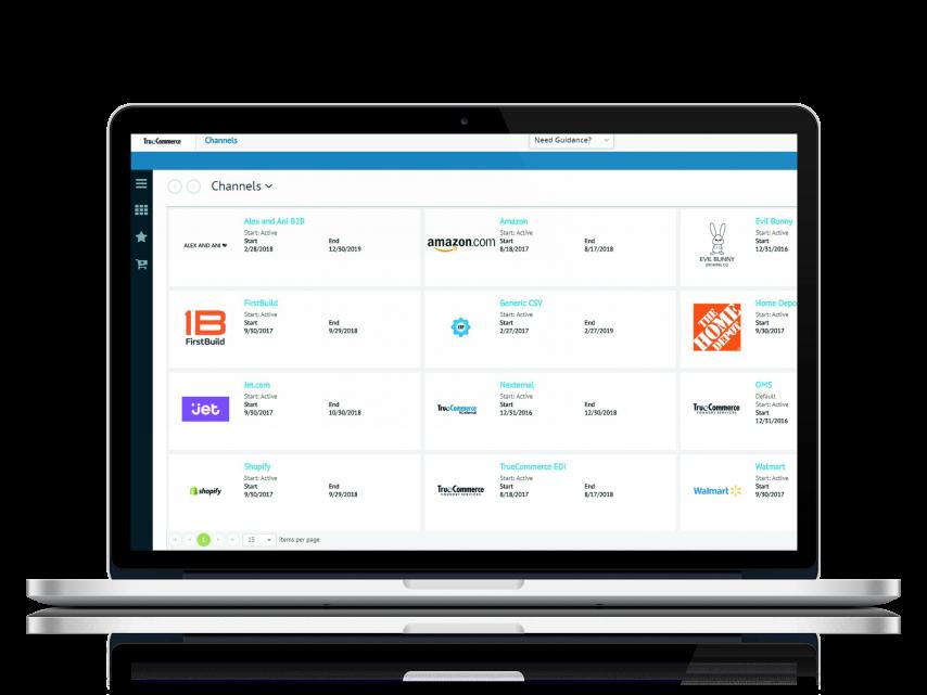 TrueCommerce PIM screenshot: TrueCommerce PIM channel management
