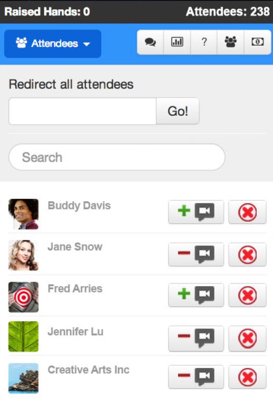 Webinars OnAir attendee list