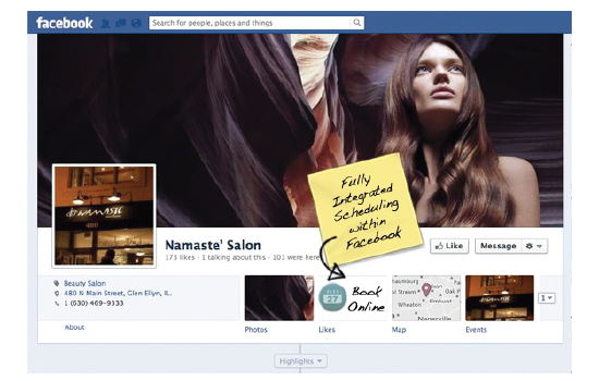 Rosy offers Facebook integration