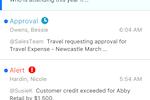 Sage Business Cloud screenshot: iPhone Notifications